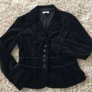 Loft velvet peplum blazer jacket